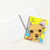 Personalized Chihuahua Art Notebooks