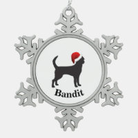 Personalized Chihuahua Snowflake Pewter Christmas Ornament