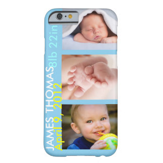 Personalized Child Birth Barely There iPhone 6 Case