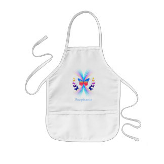 Personalized children's abstract butterfly apron