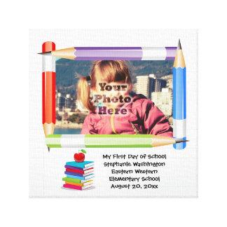Personalized Children's Kids School Photo Canvas Print