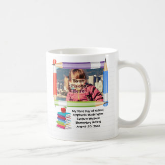 Personalized Children's Kids School Photo Frame Coffee Mug