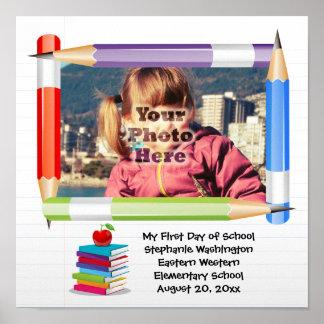 Personalized Children's Kids School Photo Frame Print