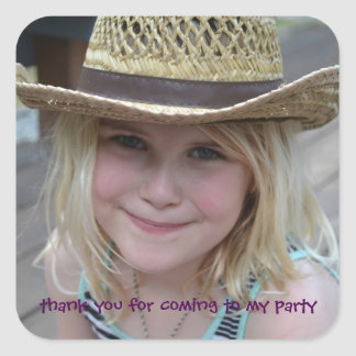 Personalized Children's Party Thank You Sticker