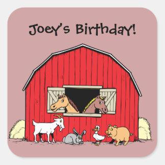 Personalized Child's Barn and Farm Animals Sticker
