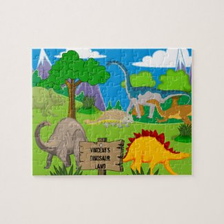 Personalized Child's Dinosaur Jigsaw Puzzle