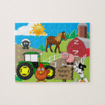 Personalized Child's Farm Jigsaw Puzzle