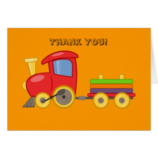 Personalized Child's Train Birthday Thank You Card