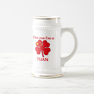Personalized Chinese Kiss Me I'm Tuan 18 Oz Beer Stein