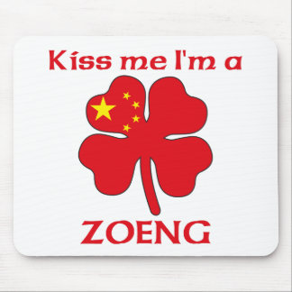 Personalized Chinese Kiss Me I'm Zoeng Mouse Mat