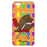 Personalized Chocolat Lab Student 2 iPhone 5C Cases