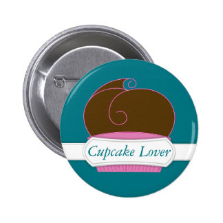 Personalized Chocolate Cupcake Lover Button