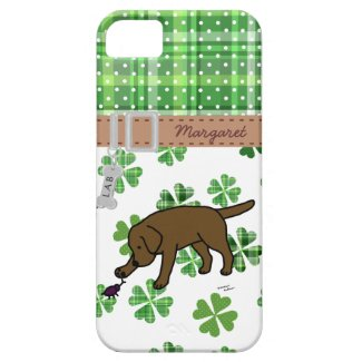 Personalized Chocolate Lab Friendly Cartoon iPhone 5 Covers