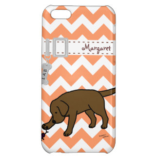 Personalized Chocolate Lab Friendly Cartoon iPhone 5C Cover