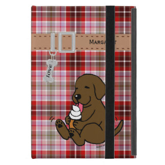 Personalized Chocolate Lab Licking Ice Cream iPad Mini Cover