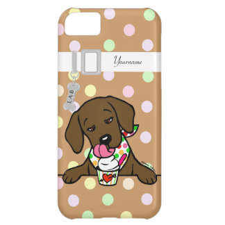 Personalized Chocolate Lab Puppy Ice Cream iPhone 5C Cover