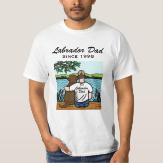 Personalized Chocolate Labrador and Dad 2 Shirt