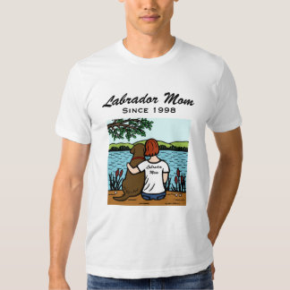 Personalized Chocolate Labrador and Mom 3 T-shirt