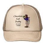 Personalized Chocolate Labrador Daddy Trucker Hat