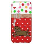 Personalized Chocolate Labrador Puppy Cartoon iPhone 5C Cases