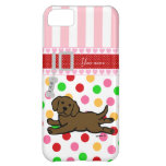 Personalized Chocolate Labrador Puppy Cartoon iPhone 5C Cover