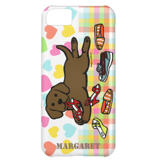 Personalized Chocolate Labrador Puppy Cartoon Cover For iPhone 5C