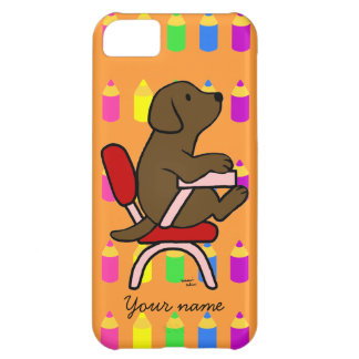 Personalized Chocolate Labrador Student 1 Pencils Cover For iPhone 5C