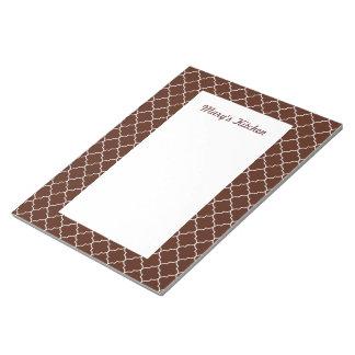 Personalized Chocolate Pattern Notepad