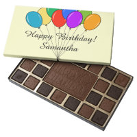 Personalized chocolates box with Birthday balloons