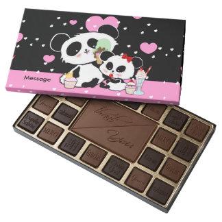 Personalized Chocs Cute Pandas Picnic Assorted Chocolates