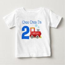 Personalized Choo Choo I'm 2 Birthday Shirt