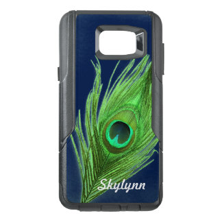 Personalized Choose Background Green Peacock Feath OtterBox Samsung Note 5 Case