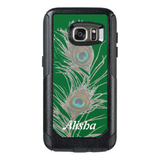 Personalized Choose Background Peacock Feathers OtterBox Samsung Galaxy S7 Case