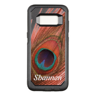 Personalized Choose Background Red Peacock Feather OtterBox Commuter Samsung Galaxy S8 Case