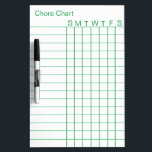 "Personalized Chore Chart List Stripes Weekly White Dry-Erase Board<br><div class=""desc"">This is Personalized Personalized Chore Chart List Stripes Weekly White dry erased board.</div>"