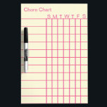 """Personalized Chore Chart List Stripes Weekly White Dry-Erase Board<br><div class=""""desc"""">This is Personalized Personalized Chore Chart List Stripes Weekly White dry erased board. This Chore Chart is ruled marking notebook style dry erase board for to-do-list or even list the notes weekly regularly in our house. This Chore Chart board can be used for office daily purpose to note important things...</div>"""