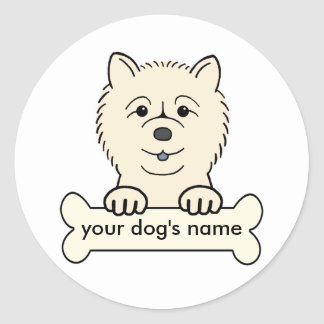 Personalized Chow Chow Classic Round Sticker