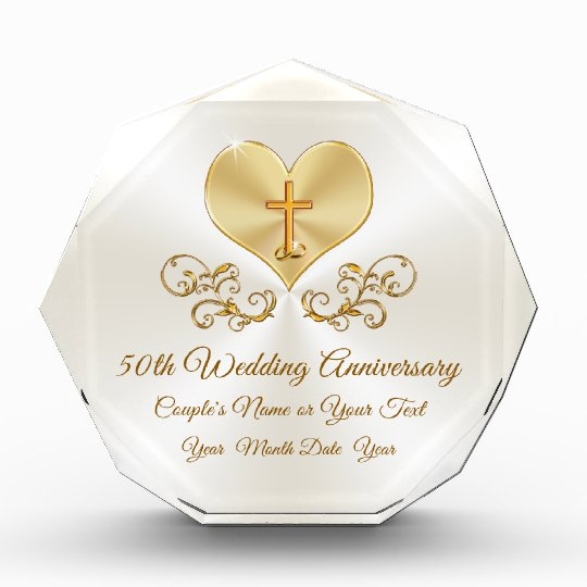 Ideas For Parents Wedding Gifts: Personalized Christian 50th Anniversary Gifts