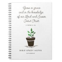 Personalized Christian Bible Study Notebook