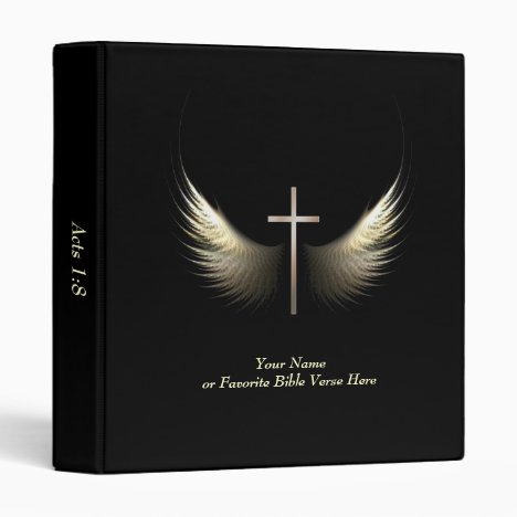 Personalized Christian Cross With Bible Verse Binder