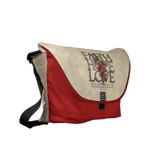 Personalized Christian Faith Hope Love Messenger Courier Bag
