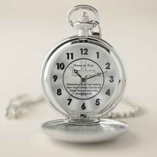 Personalized Christian Gifts for Men, Christian Pocket Watch