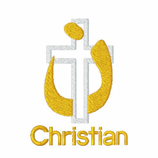 Personalized Christian Religion Cross and Symbol Polo