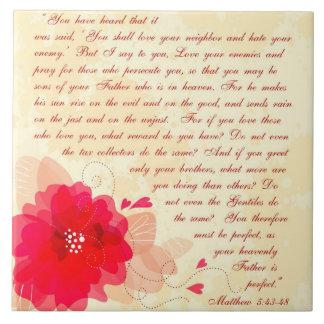 Personalized Christian Tiles - Matthew 5:43-48