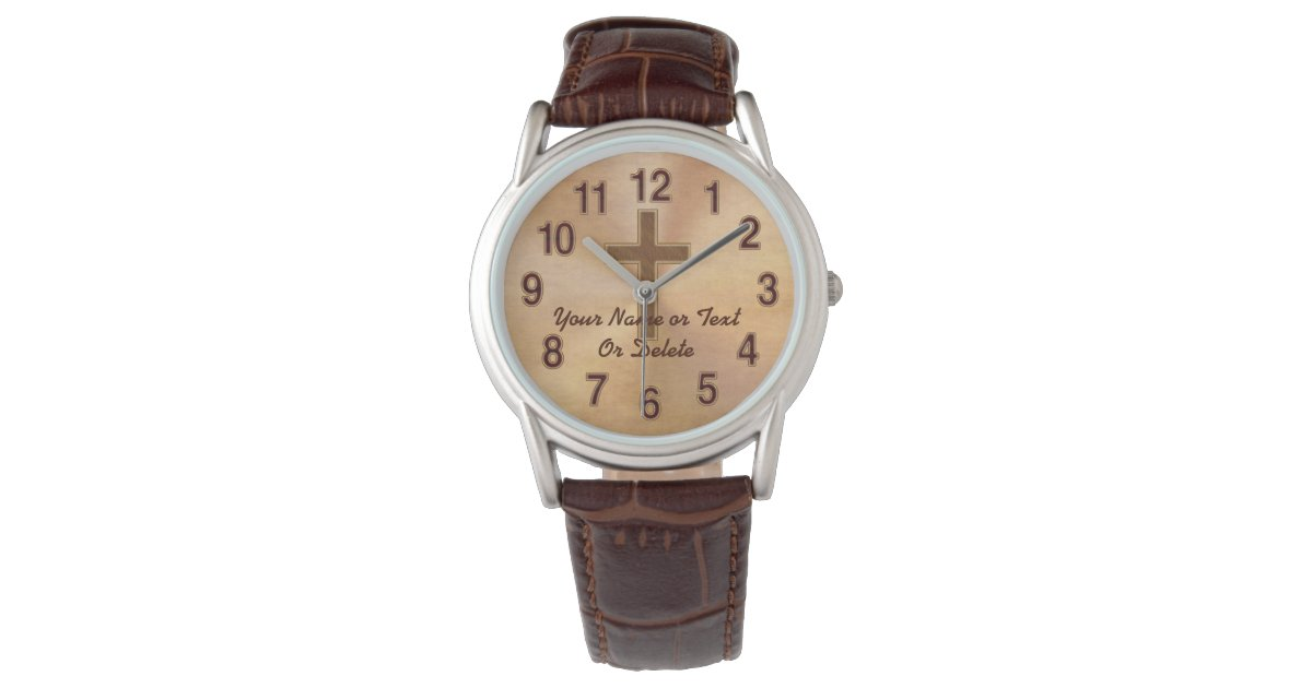 Personalized Christian Watches For Men Or Women Zazzle Com