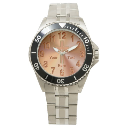 personalized christian watches for with cross zazzle
