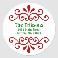 Personalized Christmas Address Labels at Zazzle