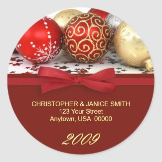 Personalized Christmas Address Labels sticker