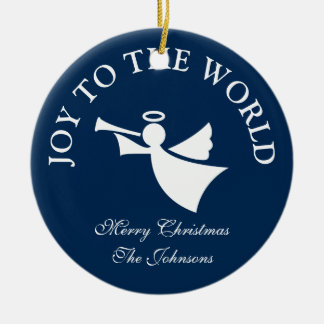 Personalized Christmas angel tree ornament