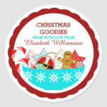 Personalized Christmas Baked Goods Classic Round Sticker